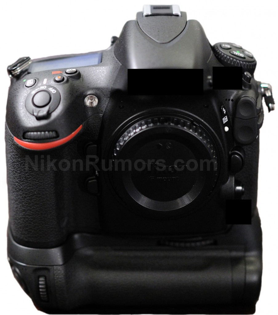 Nikon D800 Photo with Grip - Front View