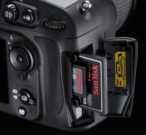 Nikon D800 Card Slots CF SD