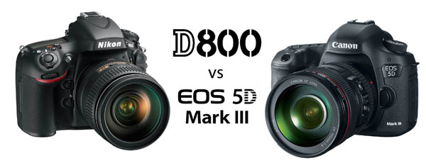 Nikon D800 vs Canon 5D Mark III Comparison