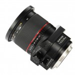 Samyang 24mm f3.5 T-S lens side angle