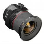 Samyang 24mm F3.5 T-S Lens Front Angle
