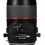 Samyang 24mm f3.5 T-S lens bottom