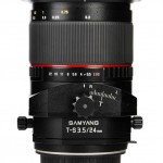 Samyang 24mm f3.5 T-S lens top